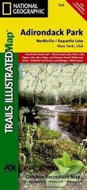 National Geographic Trails Illustrated Topographic Map Adirondack Park, Northville / Raquette Lake