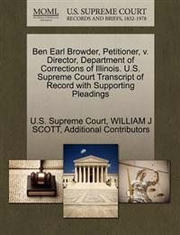 Ben Earl Browder, Petitioner, V. Director, Department of Corrections of Illinois. U.S. Supreme Court Transcript of Record with Supporting Pleadings