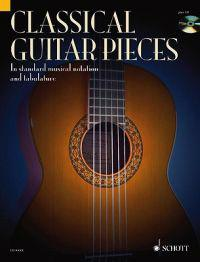 Classical Guitar Pieces: 50 Easy-To-Play Pieces in Standard Musical Notation and Tabulature [With CD (Audio)]