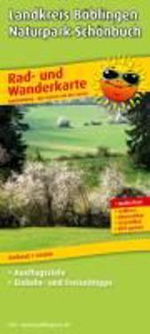Rad- und Wanderkarte Landkreis Böblingen - Naturpark Schönbuch 1 : 50 000