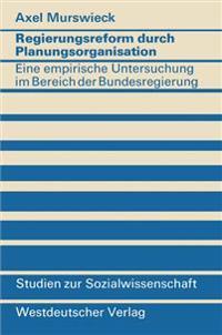 Regierungsreform Durch Planungsorganisation