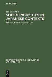 Sociolinguistics in Japanese Contexts
