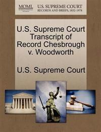 U.S. Supreme Court Transcript of Record Chesbrough V. Woodworth