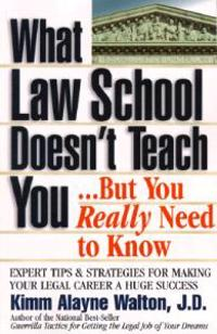 What Law School Doesn't Teach You...but You Really Need to Know