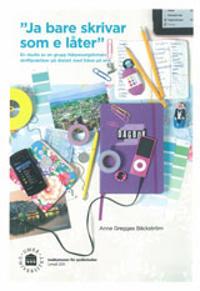 """Ja bare skrivar som e låter"" En studie av en grupp Närpesungdomars skriftpraktiker på dialekt med fokus på sms"