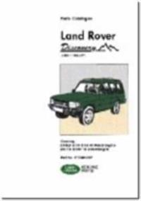 Land Rover Discovery Parts Catalogue 1989-1998 MY
