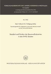 Standort Und Struktur Der Baumwollindustrien in Den Ewg-staaten