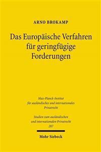 Das Europaische Verfahren Fur Geringfugige Forderungen