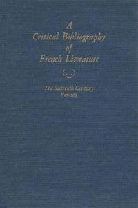 A Critical Bibliography of French Literature