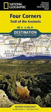National Geographic Destination Map Four Corners Region