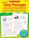 Quick Cloze Passages for Boosting Comprehension, Grades 4-6