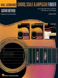 Guitar Chord, Scale & Arpeggio Finder: Easy-To-Use Guide to Over 1,100 Chords, 1,300 Scales & 1,300 Arpeggios Hal Leonard Guitar Method