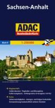 ADAC BundesländerKarte Deutschland 04. Sachsen-Anhalt 1 : 250 000