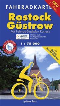 Fahrradkarte Rostock, Güstrow 1 : 75 000
