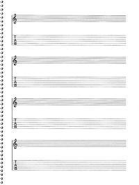 Passantino Music Papers, No. 159: Guitar Manuscript Paper