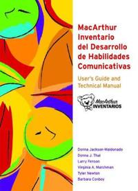 Macarthur Inventario Del Desarrollo De Habilidades Communicativas