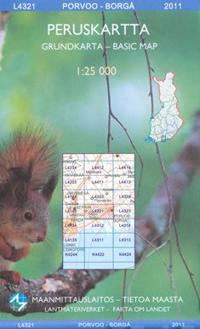 Maastokartta L4321 Porvoo - Borgå 1:25 000