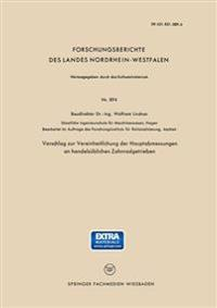 Vorschlag Zur Vereinheitlichung Der Hauptabmessungen an Handelsüblichen Zahnradgetrieben