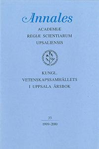 Kungl. Vetenskapssamhällets i Uppsala årsbok 33/1999-2000