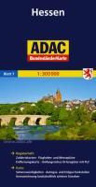 ADAC BundesländerKarte Deutschland 07. Hessen 1 : 300 000