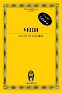 Messa Da Requiem - New Edition: Study Score