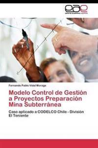 Modelo Control de Gestion a Proyectos Preparacion Mina Subterranea