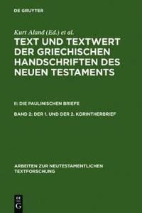Text and Textwert Der Griecheschen Handschriften Des Neuen Testaments, Part 2