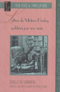 Lettres De Mistriss Henley
