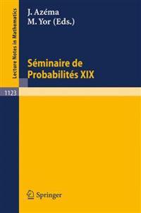 Seminaire de Probabilites XIX 1983/84