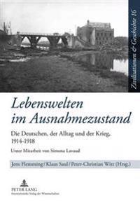 Lebenswelten Im Ausnahmezustand: Die Deutschen, Der Alltag Und Der Krieg, 1914-1918- Unter Mitarbeit Von Simona Lavaud