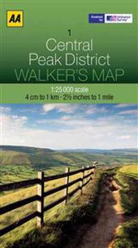 Aa Central Peak District Walker's Map