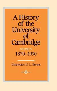 A History of the University of Cambridge A History of the University of Cambridge: Series Number 4