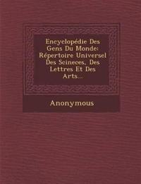 Encyclopedie Des Gens Du Monde: Repertoire Universel Des Scineces, Des Lettres Et Des Arts...