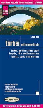 Turkey Mediterranean Coast Map