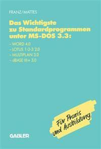 Das Wichtigste Zu Standardprogrammen Unter Ms-dos 3.3