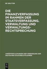 Die Finanzverfassung Im Rahmen Der Staatsverfassung