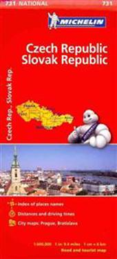 Michelin Czech Republic & Slovak Republic Road and Tourist Map
