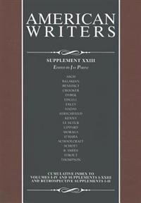 American Writers, Supplement Xxiii