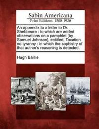 An Appendix to a Letter to Dr. Shebbeare
