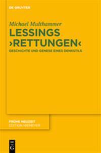 "Lessings ""Rettungen"" / Lessing's ""Redemptions"""