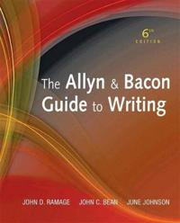 Allyn & Bacon Guide to Writing, the Plus New Mycomplab with Etext -- Access Card Package