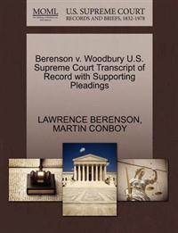 Berenson V. Woodbury U.S. Supreme Court Transcript of Record with Supporting Pleadings