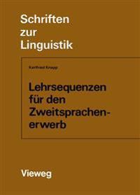 Lehrsequenzen Für Den Zweitsprachenerwerb