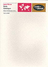 Land-rover Series 2 & 2a Bonneted Control Parts Catalog