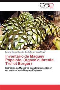 Inventario de Maguey Papalote, (Agave Cupreata Trel Et Berger)