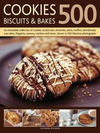 500 Cookies  Biscuits & Bakes  An Irresistible Collection of Cookies  Scones  Bars  brunies  Slices  Muffins  Shortbreads  Cup Cakes  Flapjacks  Cra - Catherine Atkinson - böcker (9781780190013)     Bokhandel