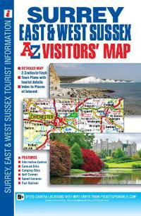 Surrey EastWest Sussex Visitors Map