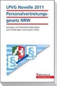 LPVG Novelle 2011 Personalvertretungsgesetz Nordrhein-Westfalen