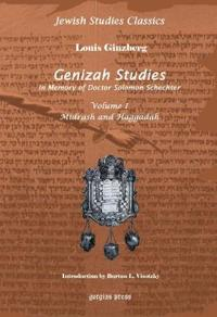 Genizah Studies in Memory of Doctor Solomon Schechter