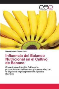 Influencia del Balance Nutricional En El Cultivo de Banano